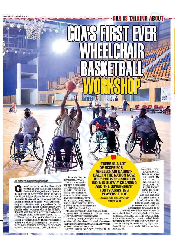 Wheelchair Basketball  - Times of India