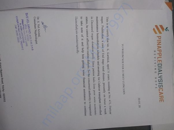 Doctor's letter attached herewith