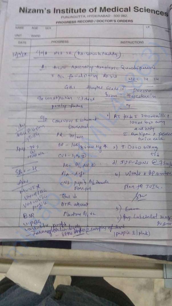 Diagnose notes
