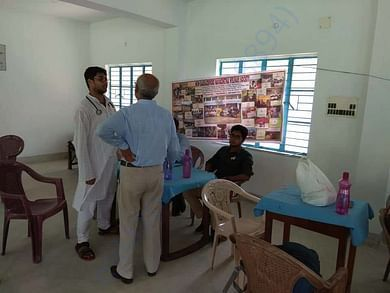 Our team organising and supporting medical camps