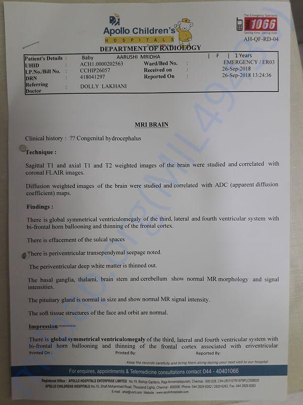 MRI  REPORT