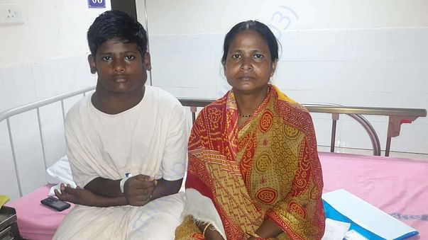 Kalyani with her son