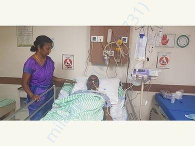 Prakash at the hospital