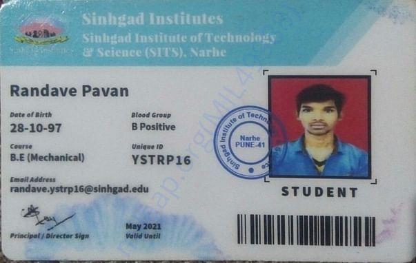 pavan's college ID