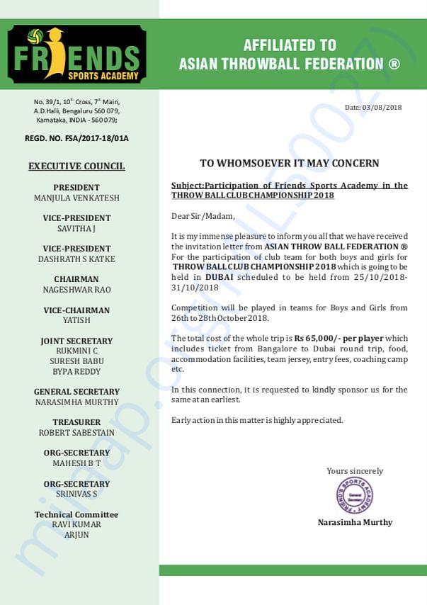 Sponsorship Document
