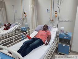 Please support Mr. Rupesh to undergo his treatment