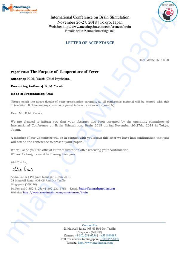 Brain stimulation Conference-Letter of Acceptance -1
