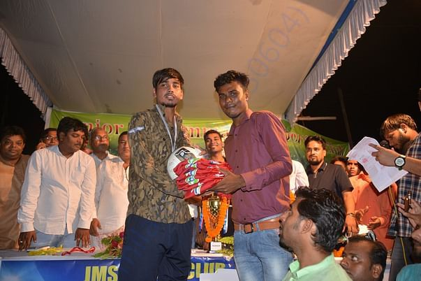 Visit to local football tournament&encouraging youngsters,gifting them