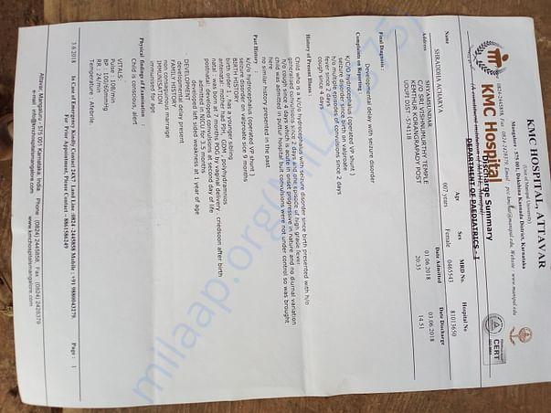 Latest hospitalised discharge summary part 1