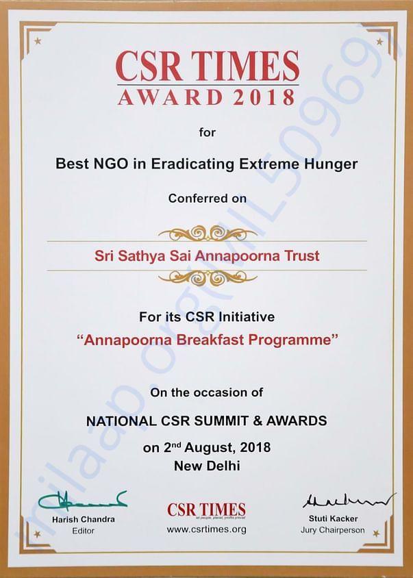 BEST NGO IN ERADICATING EXTREME HUNGER