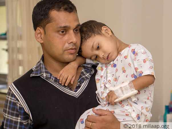 This Father Is Struggling To Save His Son's Life From Cancer
