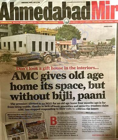 Ahmedabad Mirror Article