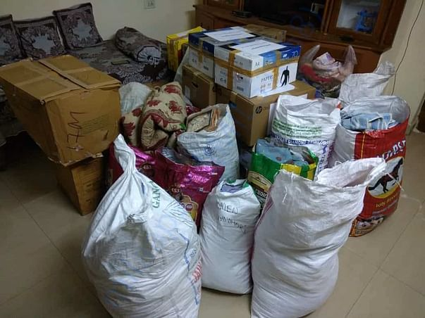 We are been collecting things to reach out to the people of srikakulam