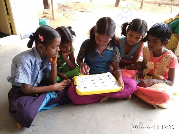 Group of students using the kit to learn and practice