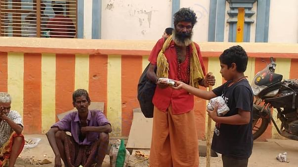AnnaDaanam poor people Dasara