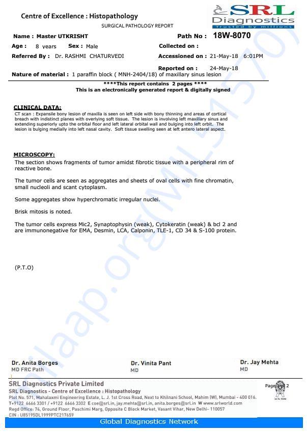 Biopsy report