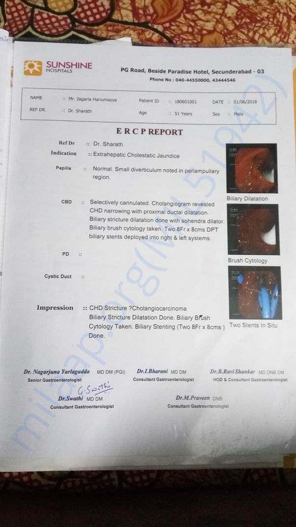 ERCP report