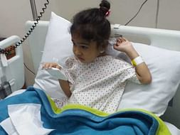 4yr Ayesha, ingested acid & needs your help for food pipe operation.