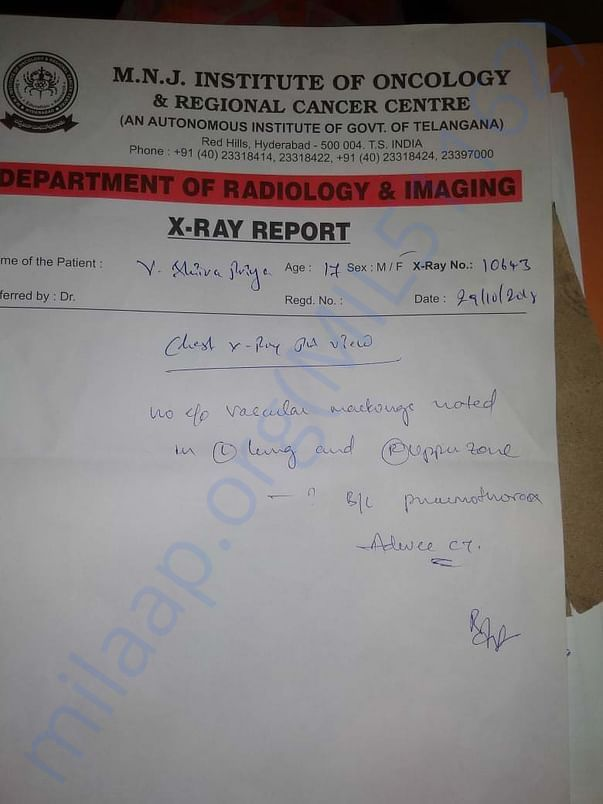 X-RAY report