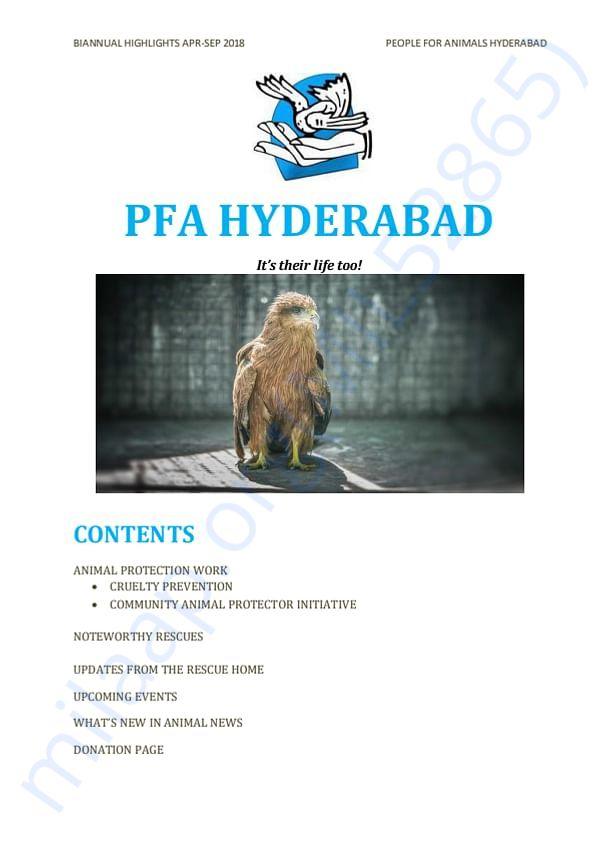 Biannual Highlights of PFA Hyderabad