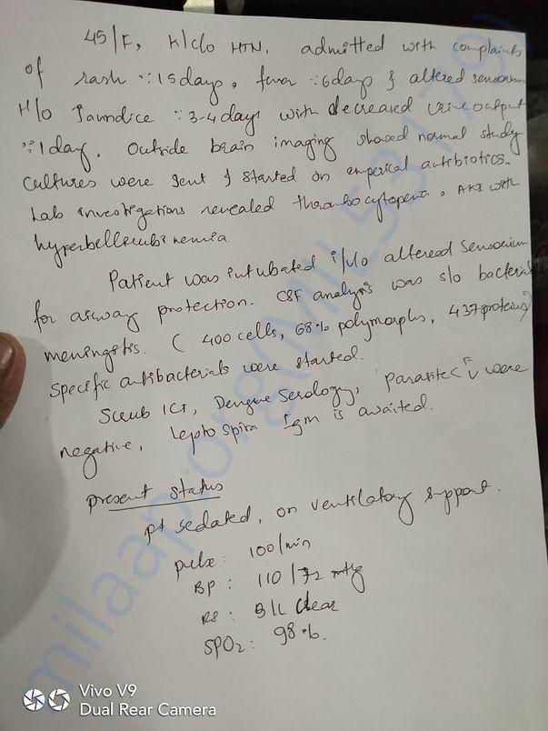 Doctors report of laksmi devi situation
