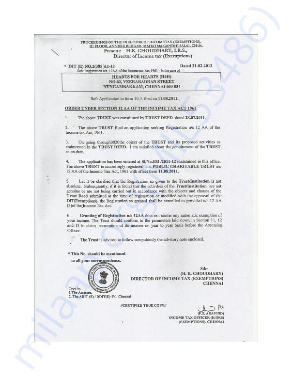 12AA REGISTRATION CERTIFICATE