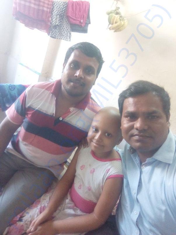Priya with Father and Me