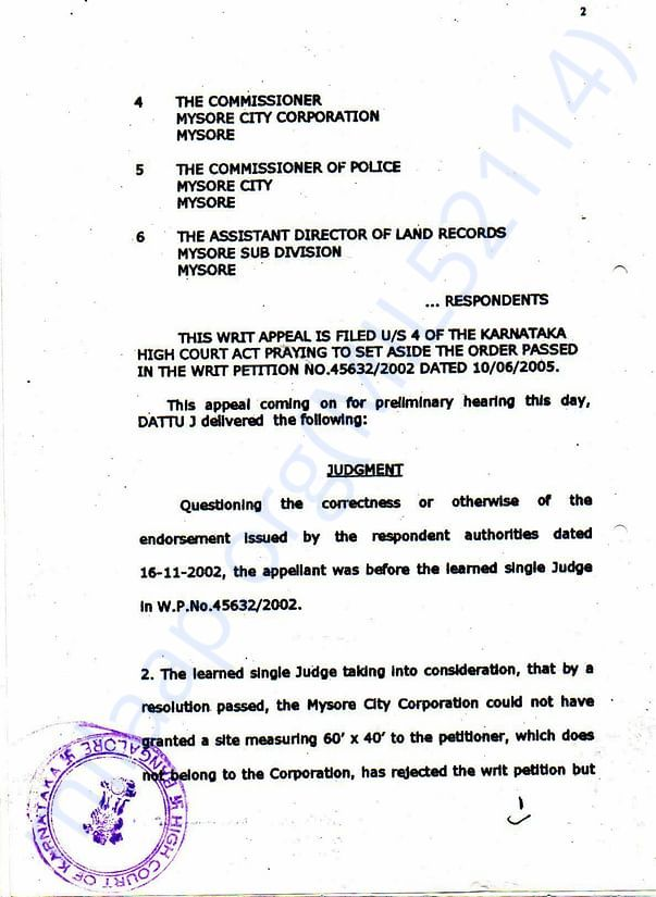 Court Order (Second Page)