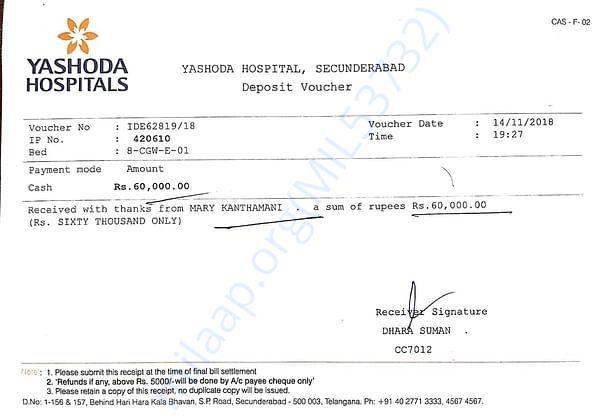 Medical bills so far
