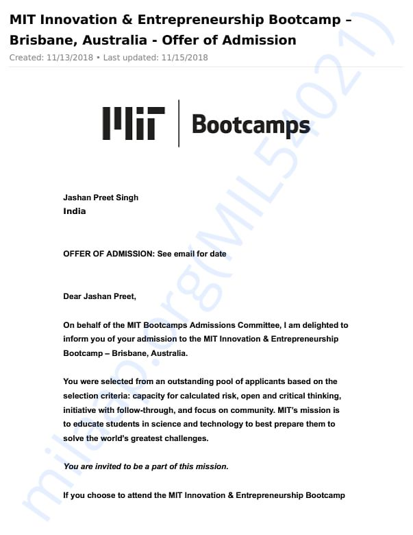 Offer Letter (Page-1)