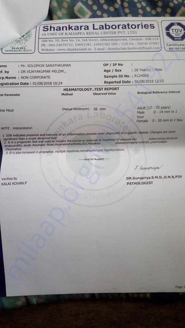 Medical report 8th month