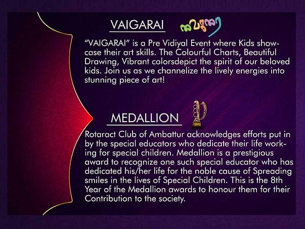 VIDIYAL - Talent Promotion Event for Special Children