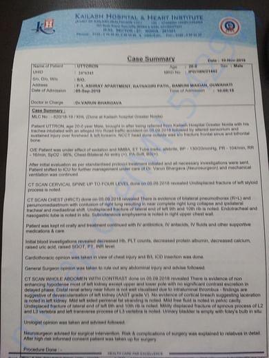 Case history summary - Uttoron page 1