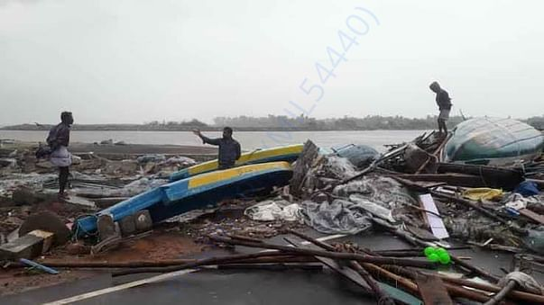 Cyclone affected place