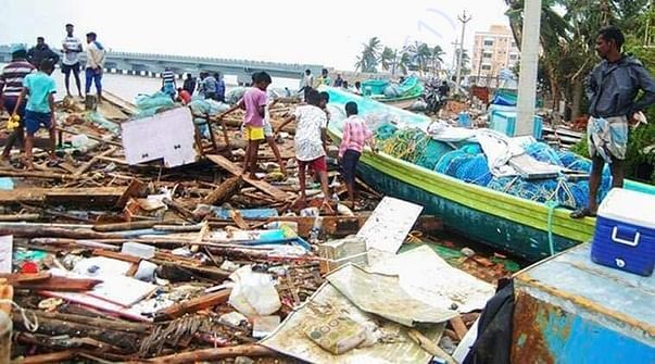 Cyclone affected area