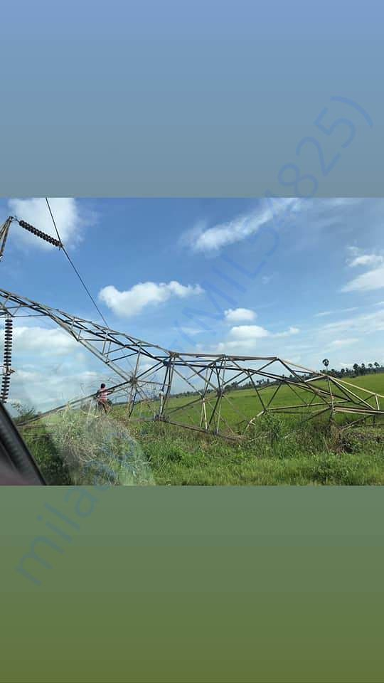 Damages to electric posts