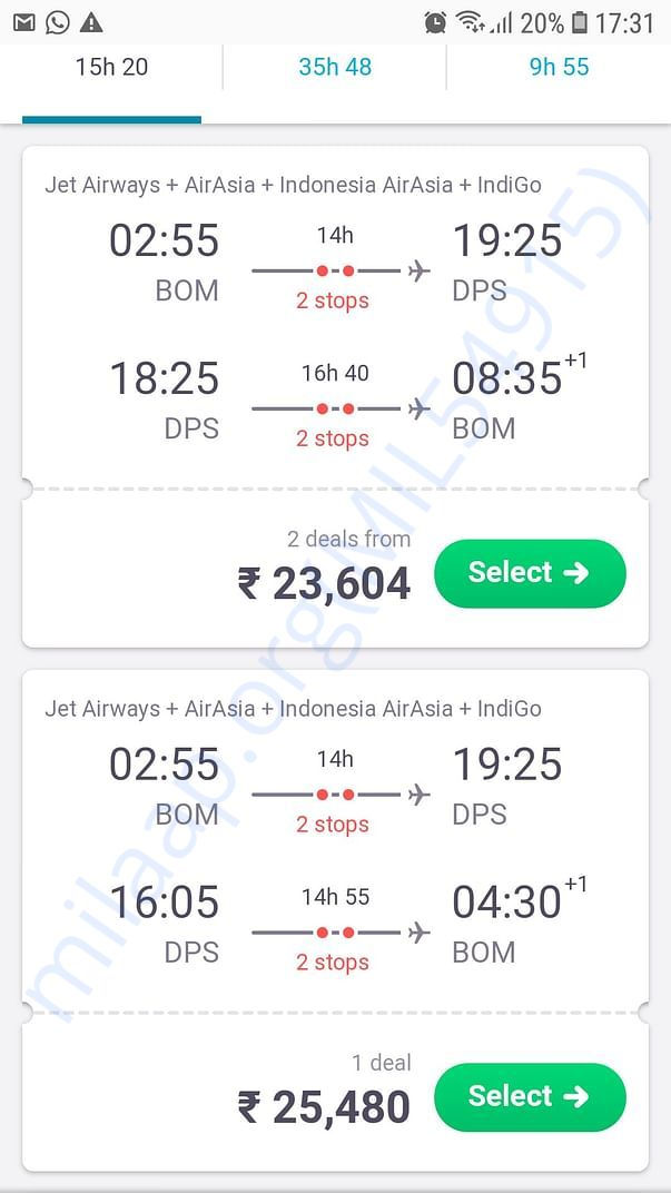 Average flight price