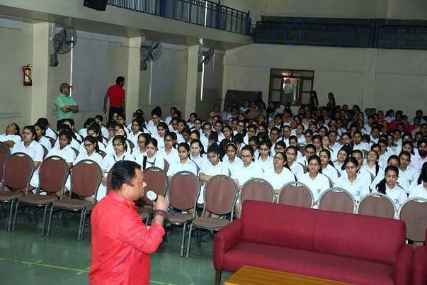 Meditation workshop in DPS INDIRAPURAM