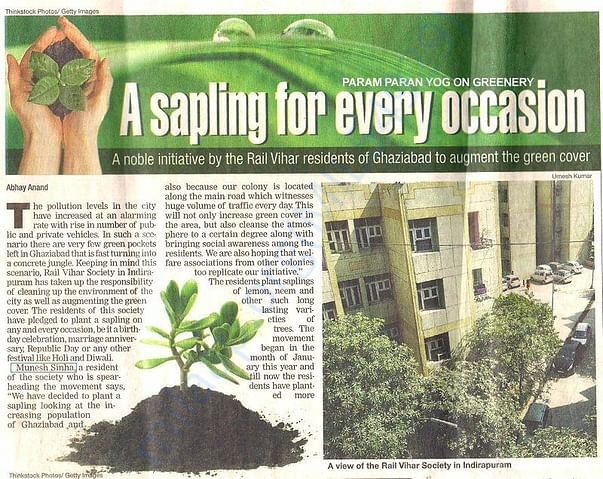 Our contribution For enviroment