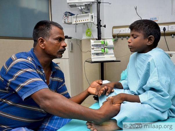 Kaliyamoorthi needs your help to undergo liver transplant surgery