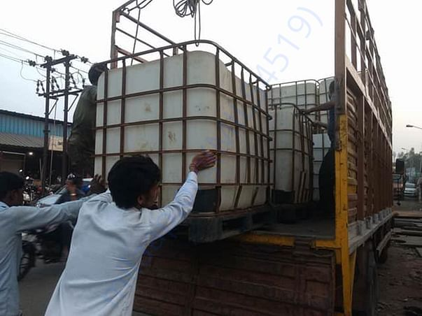 Water tanks for installing drip irrigation system