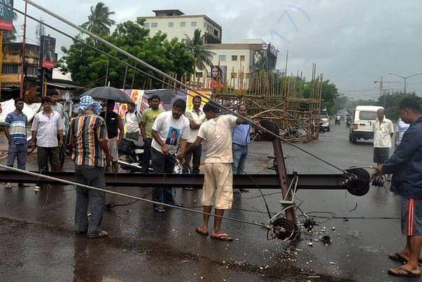 Electricity Damage due to Gaja Cyclone