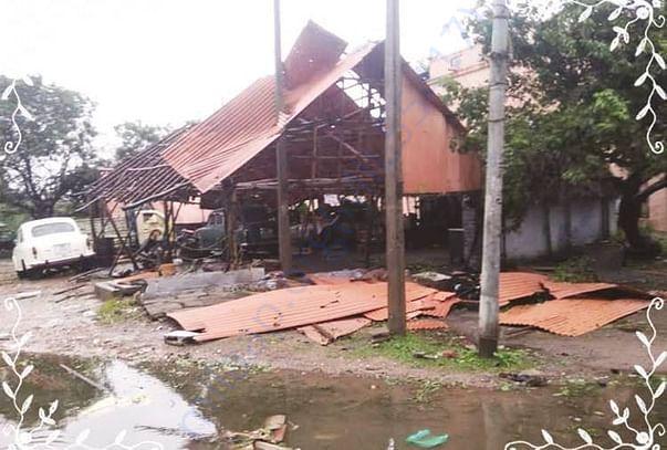 Houses Damaged Due to gaja cyclone