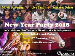 New Year Party 2018 for 800 Tribal Kids in interiors of Dahanu