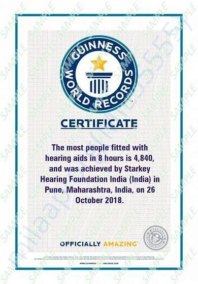 GUINNESS WORLD RECORD FOR MOST PEOPLE FITTED WITH HEARING AIDS IN 8 hr