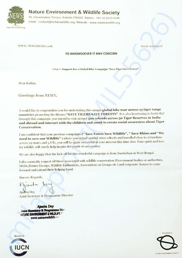 Support Letter from NEWS