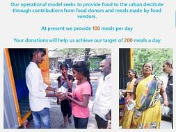 Help Us In Feeding The Urban Destitute