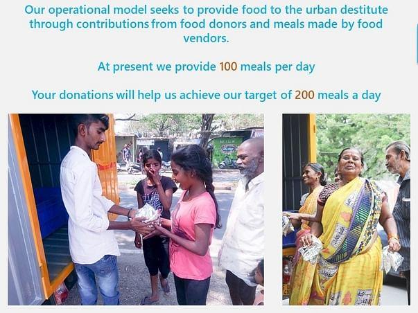 Help Us In Feeding The Urban Destitute
