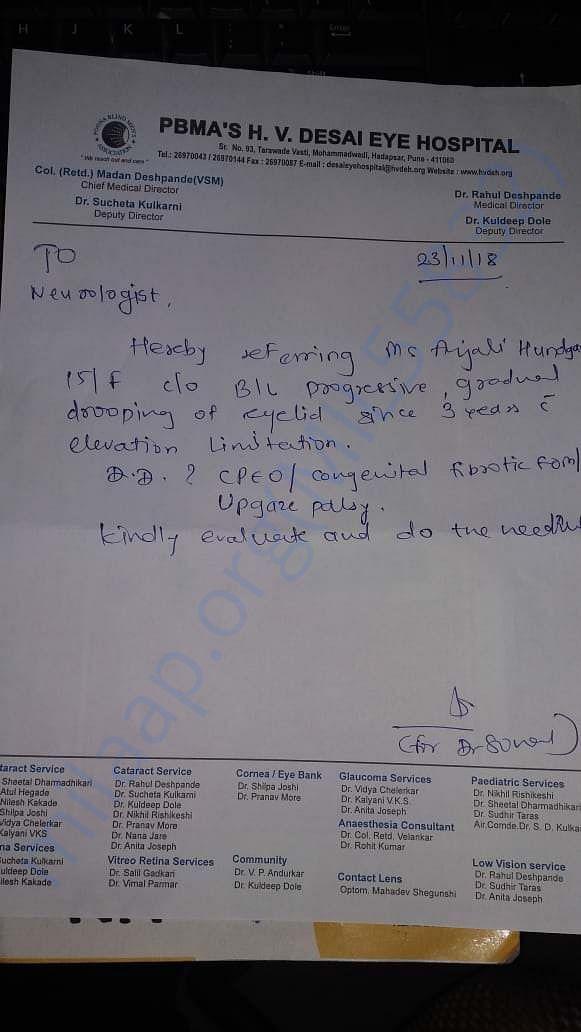 Desai Hospital doctor's advice