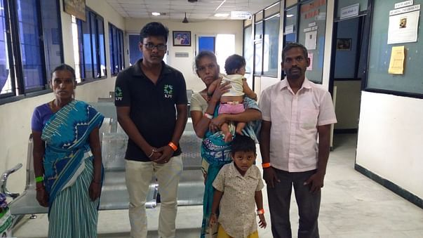Family of Baby Jeevitha with our volunteer in Sri Ramachandra hospital